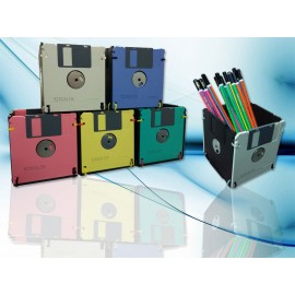 Stationery Holder (Square) / Kotak Alat Tulis dari Disket Kotak